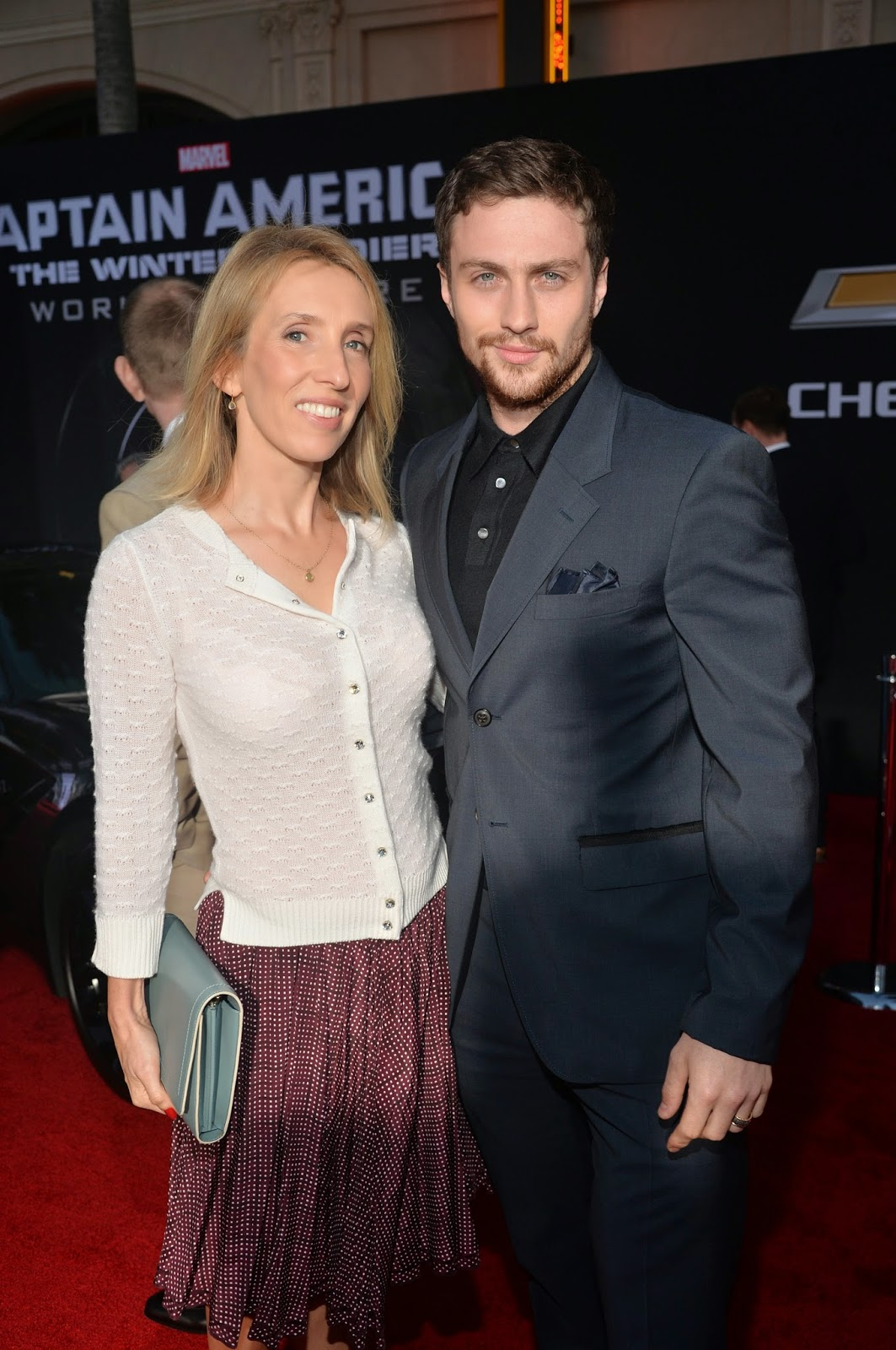 "Fotos UHQ sin marcas: Sam Taylor Johnson en Marvel's ""Captain America: The Winter Soldier"" Premiere – 13 Marzo"