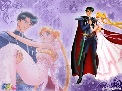 sailor moon and tuxedo mask love  sailor moon princess serenity