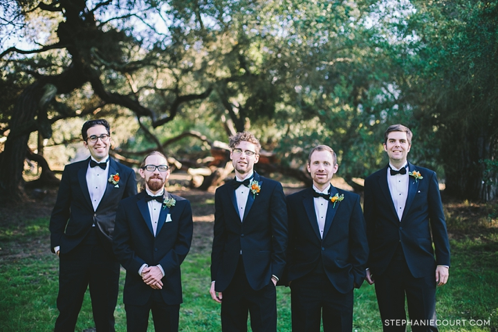 """wedding party photos at mountain lake park"""