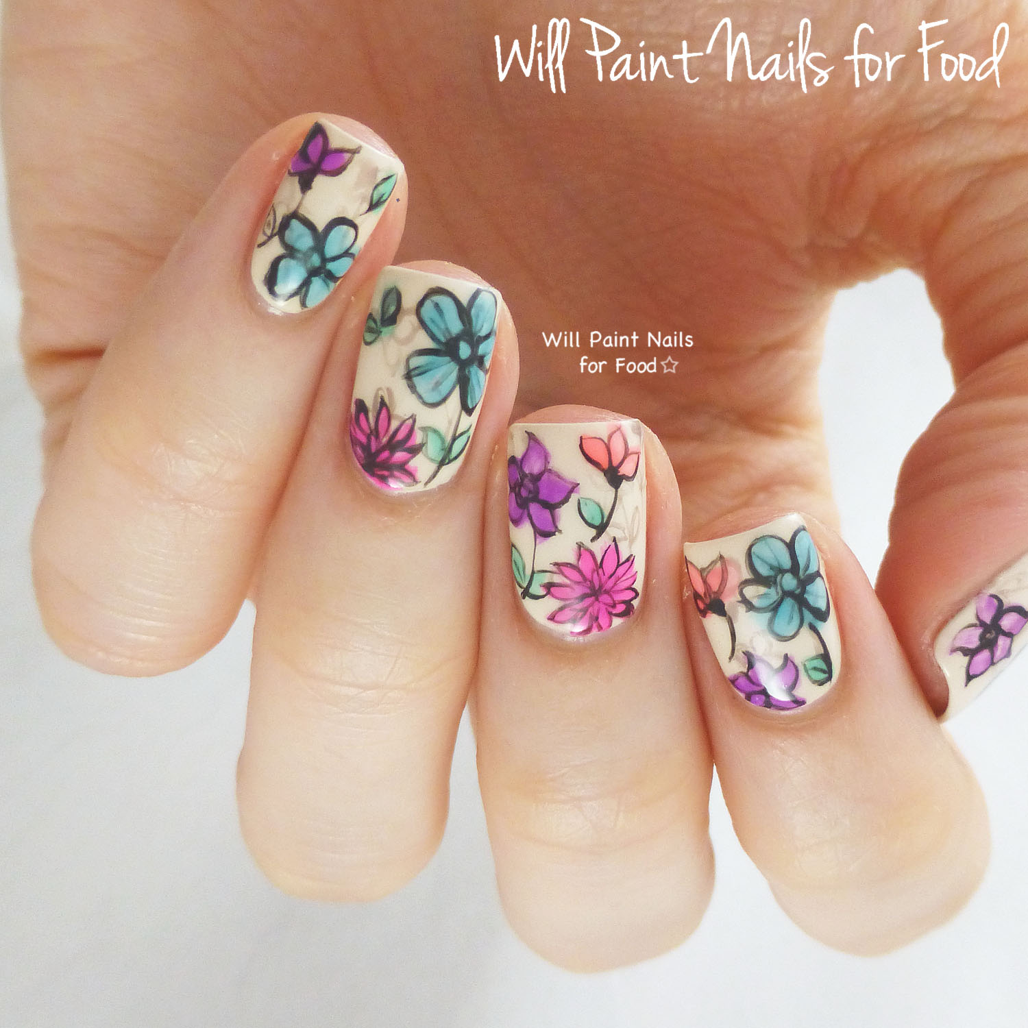 April Was A Good Month For Nail Art This Grungy Look With Faded Borders Goes Back Over Year But Its I Still Love