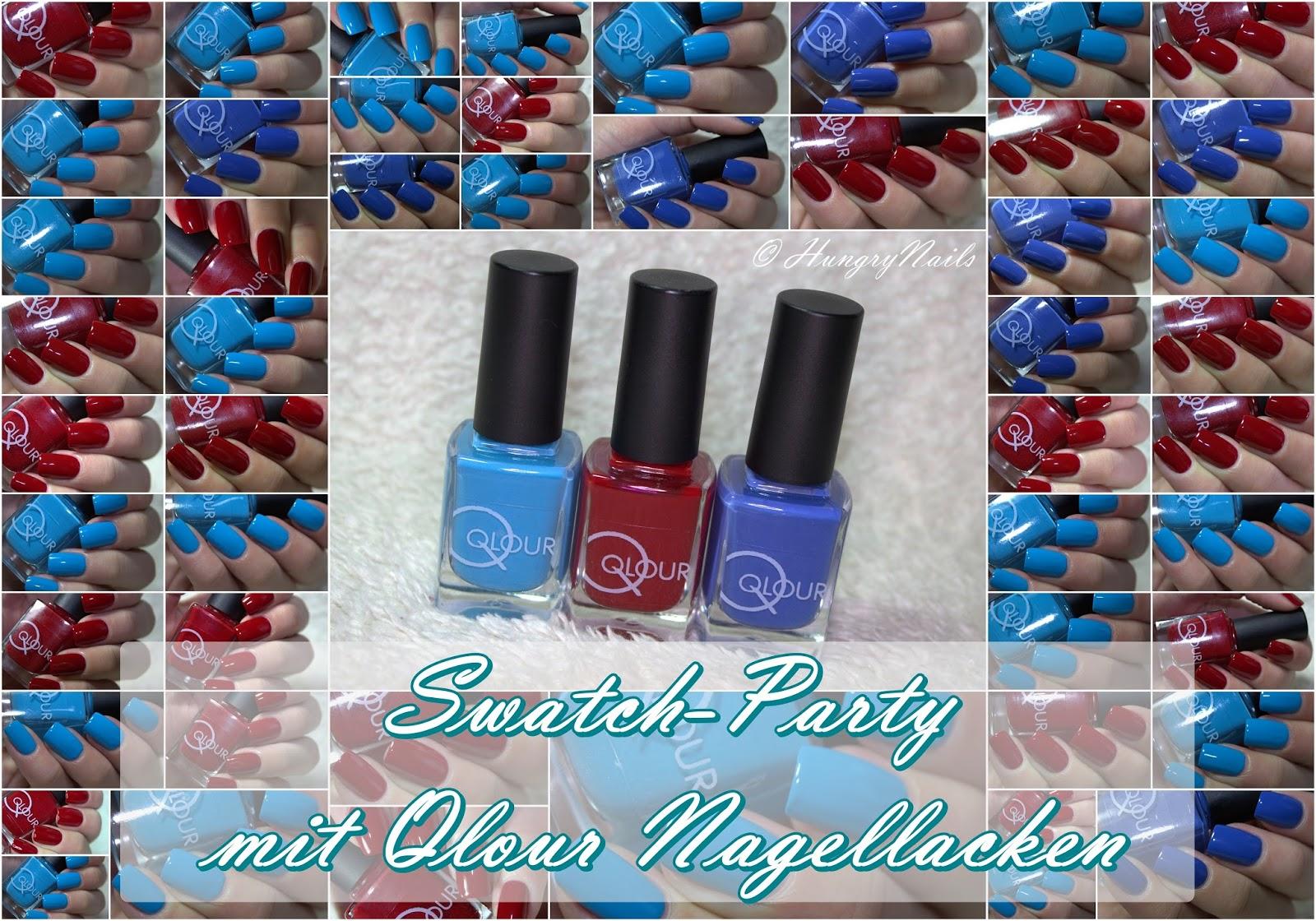 Swatch-Party   Qlour Nagellacke im Test - HungryNails Blog   Die ...