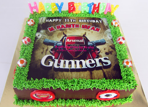 Birthday Cake with Edible Image Arsenal