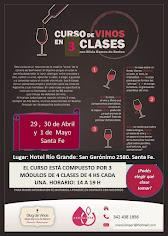 Curso de Vinos en Abril en Santa Fe