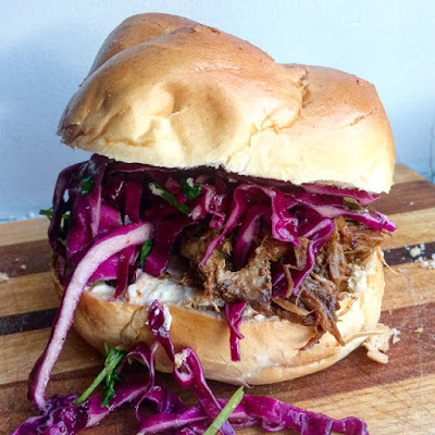 - - - - - pulled pork sandwich - - - - -