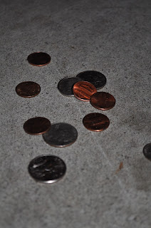 money, spare change, change, counting change