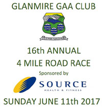 4 mile race in Glanmire nr Cork City...Sun 11th June 2017