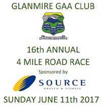 4 mile race in Glanmire nr Cork City...Sun 11th June 2017