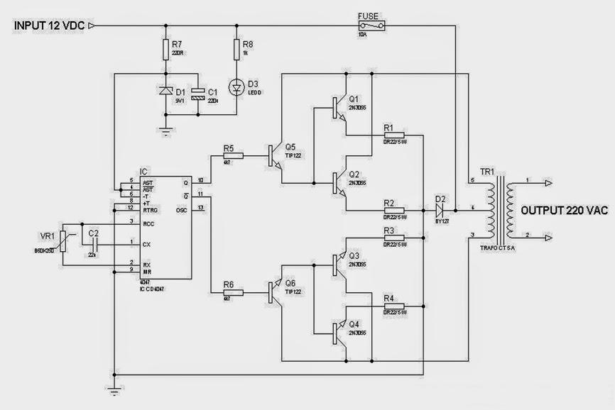 Blog Teknik  U0026 Vokasi  Merakit Rangkaian Inverter 1000 Watt