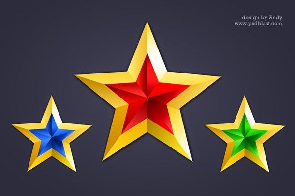 Golden Star Icon PSD