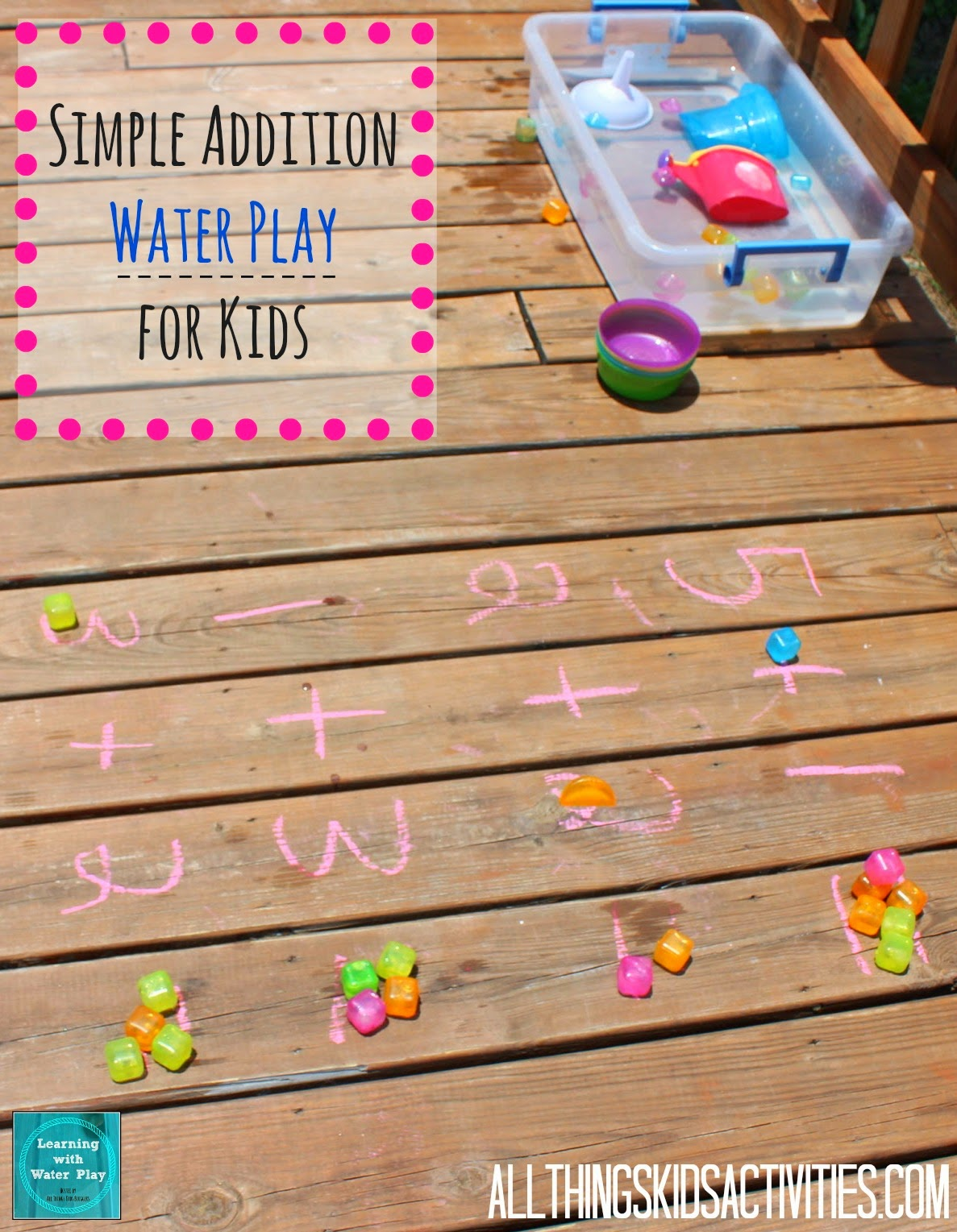 Simple Addition Water Play for Kids