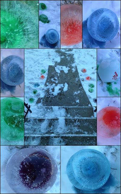 winter craft, ice sculpture, craft with kids,