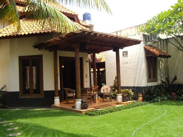 bentuk teras rumah yang indah dan asri desain rumah