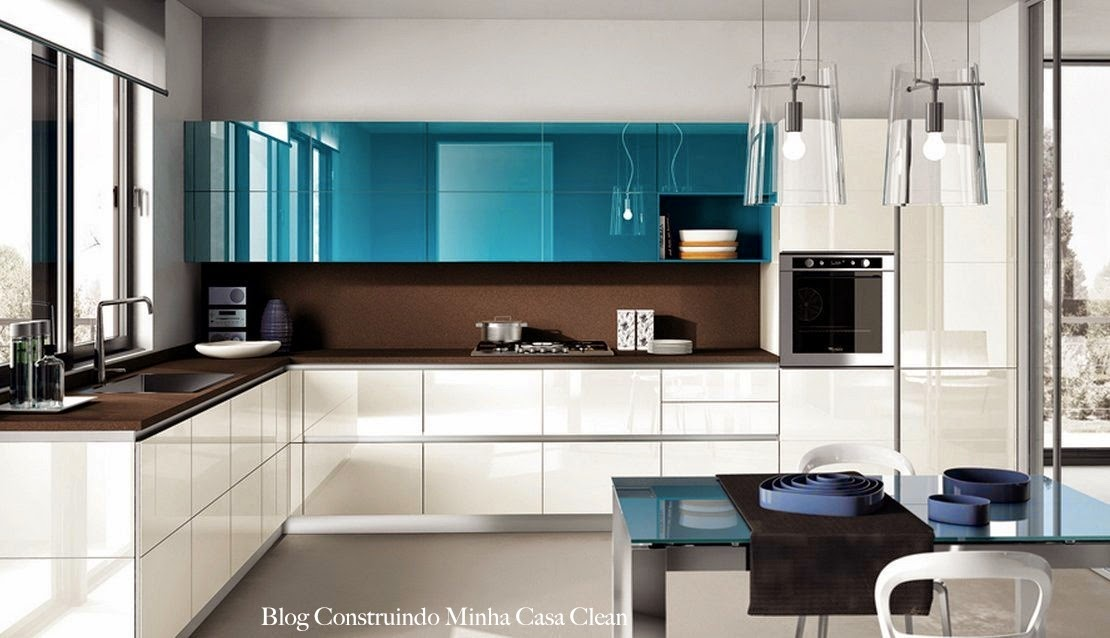 Another Image For Cozinha Planejada Azul Pictures to pin on Pinterest