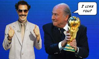 Sepp Blatter, FIFA, FIFA Elections, Coruption, Scandal, Borat,