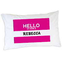 Psychobaby Hello My Name is Personalized Pillowcase