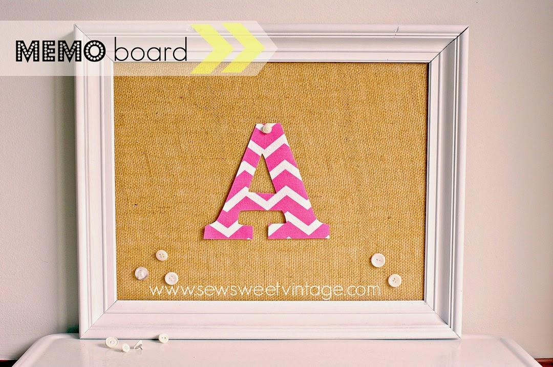 diy memo board, how to make a burlap note board