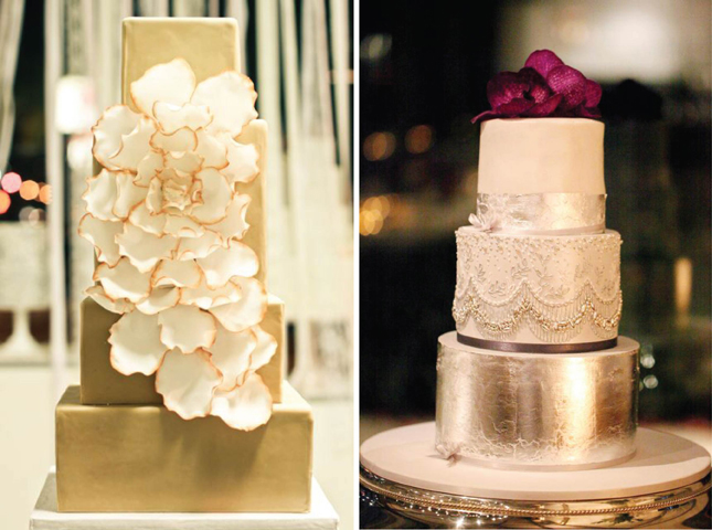 how to use edible gold leaf on butter cream cakes
