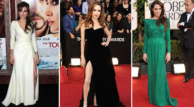 Modelos e Fotos de Vestidos da Atriz Angelina Jolie