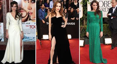 Modelos e Fotos de Vestidos da Atriz Angelina Jolie