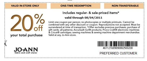 Joann's crafts coupons