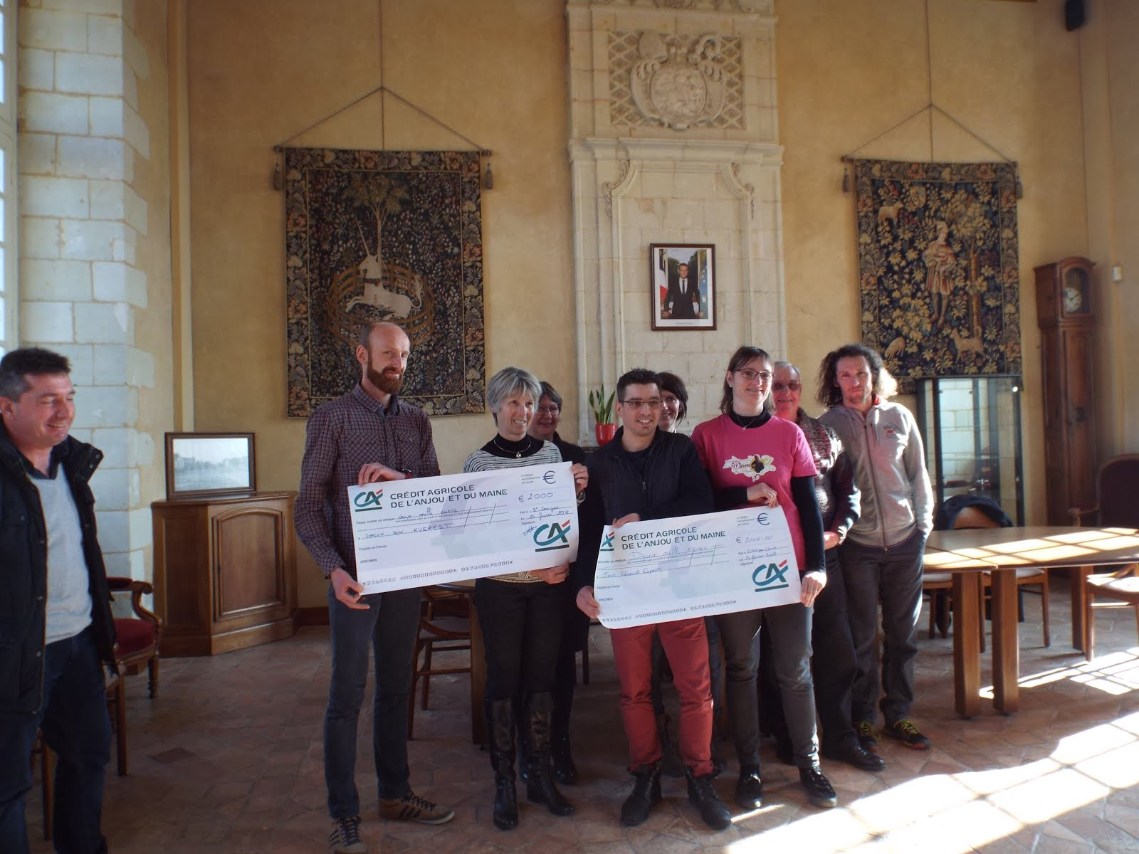 Remise des 2 chèques de 2.000 euros pour les Foulées des rêves 2017