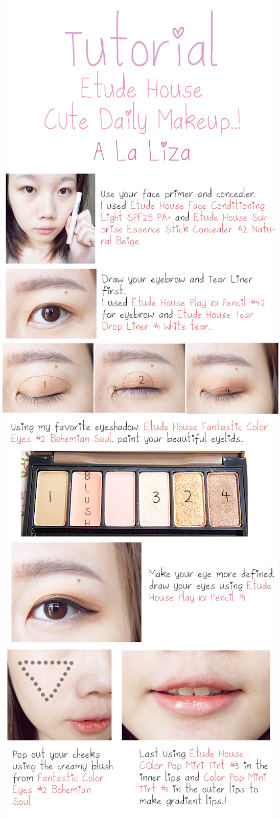 Lizachan blogjust a beauty blog etude house daily make up tutorial its easy and simple right baditri Gallery