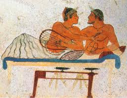 homosexuality in ancient greece and rome Was male homosexuality common in ancient greece and ancient rome  if yes, does it mean today's society is lagging behind to them in terms of accepting homosexuality  if yes, can you also list some examples of male homosexuality in ancient greece and rome.