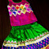 Raw Silk Kids Green Lehenga