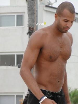 Brian Tillman Shirtless at Hermosa Beach Open in 2011