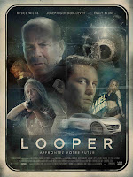 Looper, Rian Johnson, Joseph Gordon-Levitt, Bruce Willis, top 2012, Blunt Emily, French poster, trailer, picture, poster