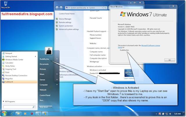 Download Windows 7 Activator+KeyGen+Windows 7 Loader ...