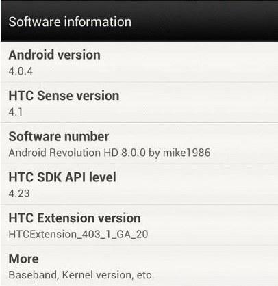 Rom non ufficiale per HTC ONE X con android 4.0.4 e Sense 4.1