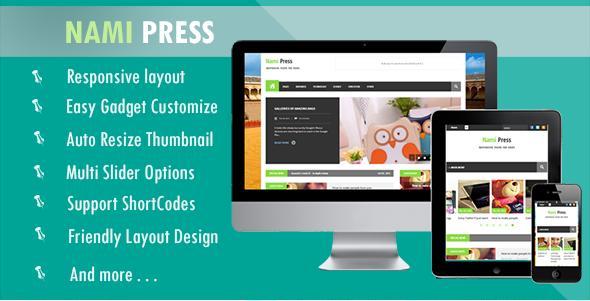 Nami Press Responsive Blogger Template