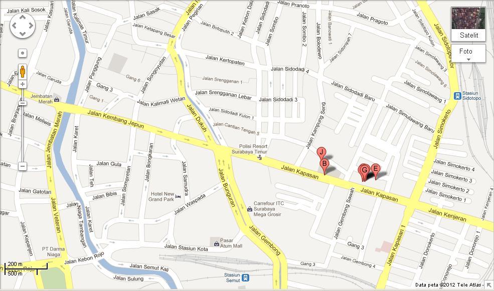 Kulakan Baju Murah Di Pasar Kapasan Surabaya Peta Lokasi