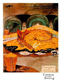 Dragão Smaug do livro O Hobbit