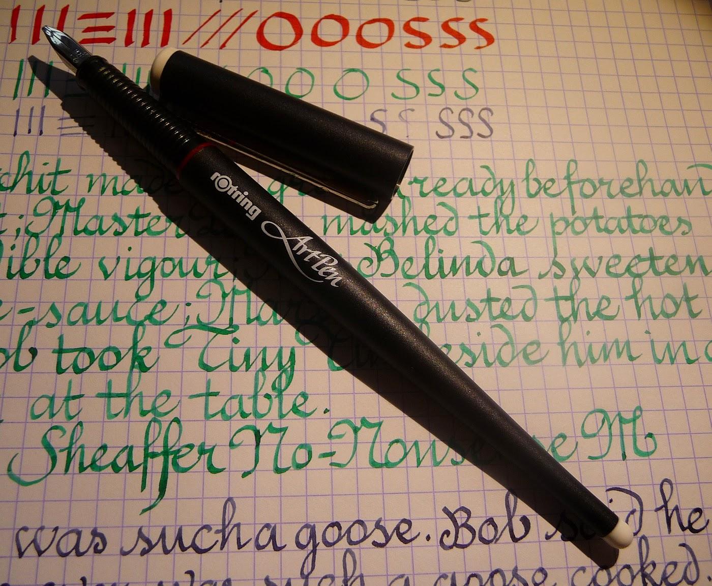 Fountain pen love a comparison of calligraphy pens