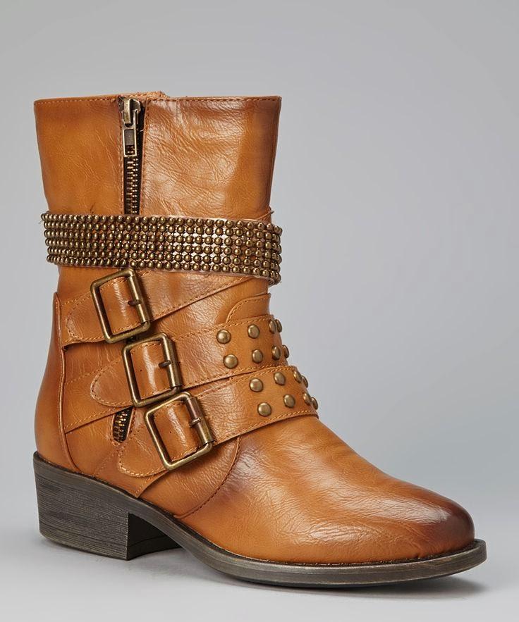 Camel Studded Harper Boots