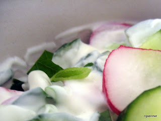 Cucumber and Radish Yogurt by Ng @ What's for Dinner?