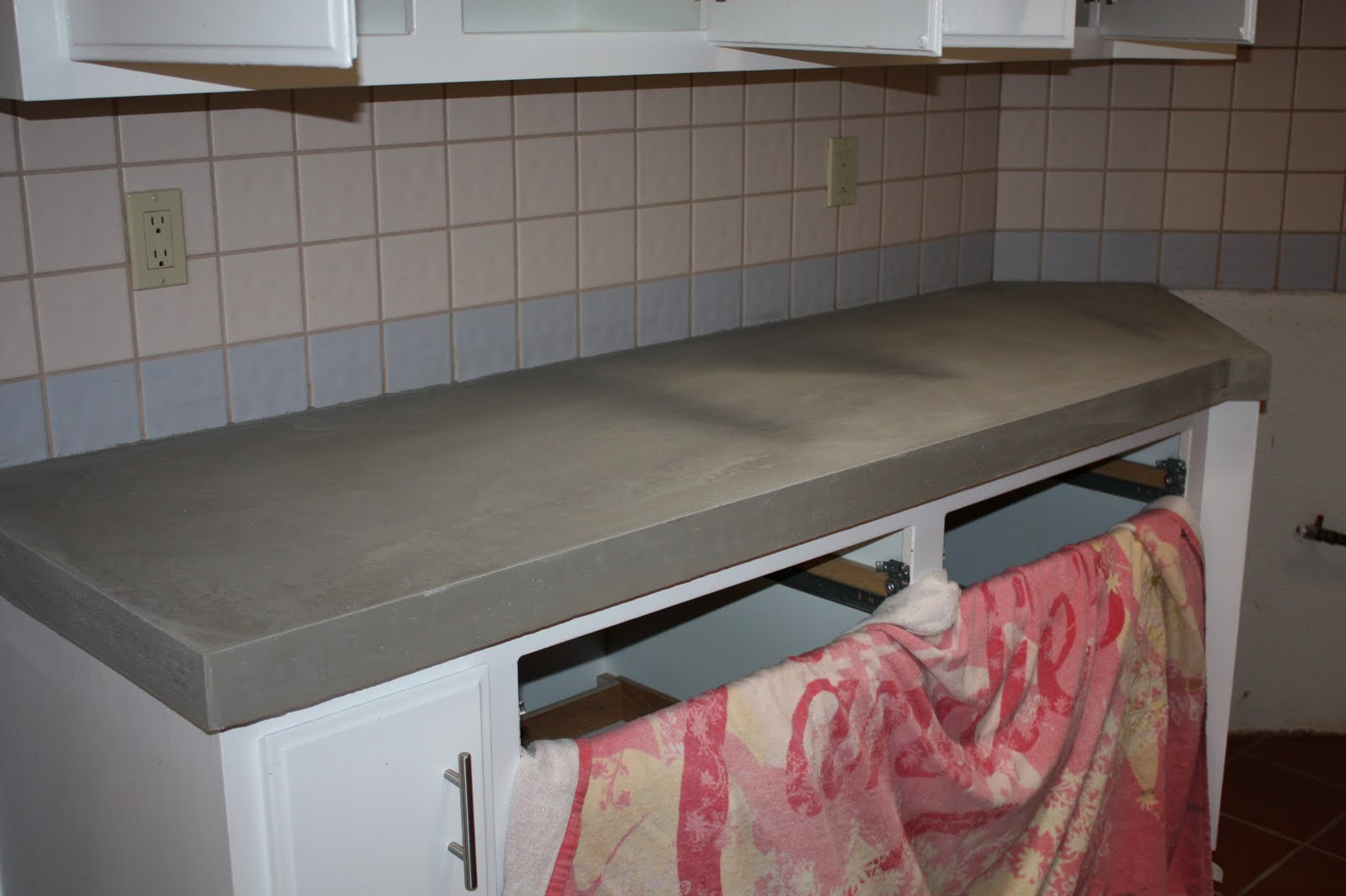 Quick Install of Concrete Countertops! Kitchen Remodel! « Ben ...
