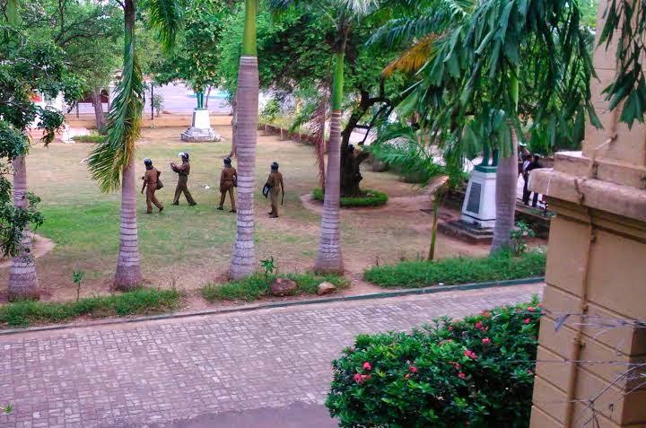 Rajarata Uni closed,VC Still trapped,Anti-riot Police squads to attack!