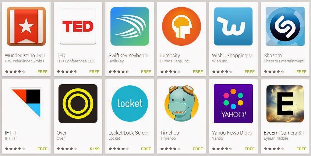 تحميل أفضل تطبيقات و ألعاب سامسونج الجي اتش تي سي سوني اريكسون نيكسوس لعام 2014 مجاناً
