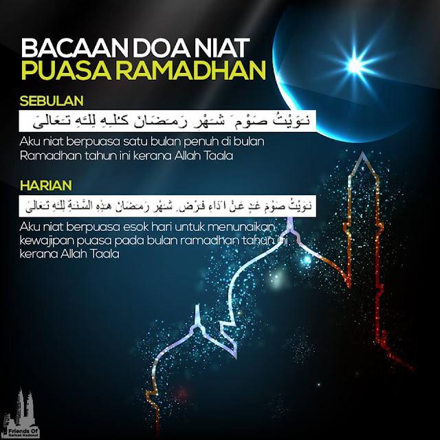 niat puasa harian, niat puasa sebulan, ramadan al mubarak,