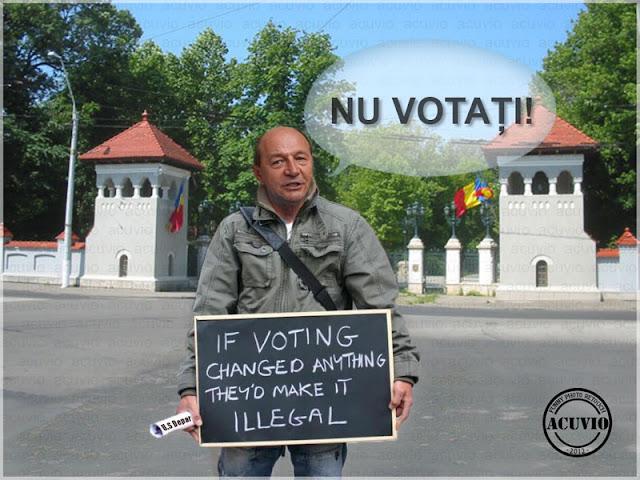 Funny image Traian Basescu Nu Votaţi