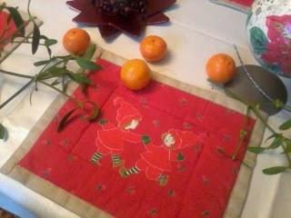Zimowo -świąteczne podkładki na stół.