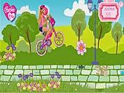 Cùng Barbie đạp xe, game dua xe
