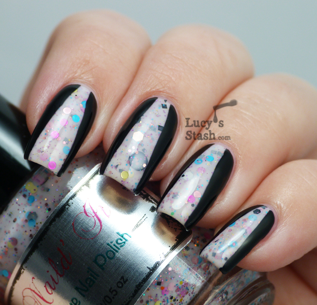 Lucy's Stash - chevron nail art