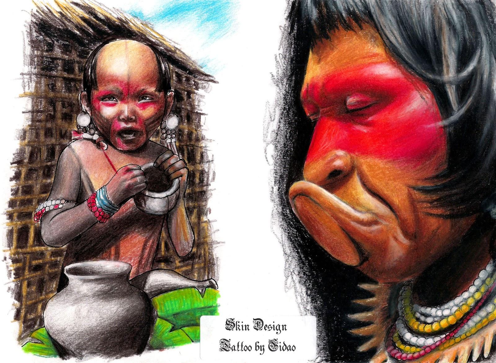 desenhos fotos e videos de tattoo desenho indio brasileiro