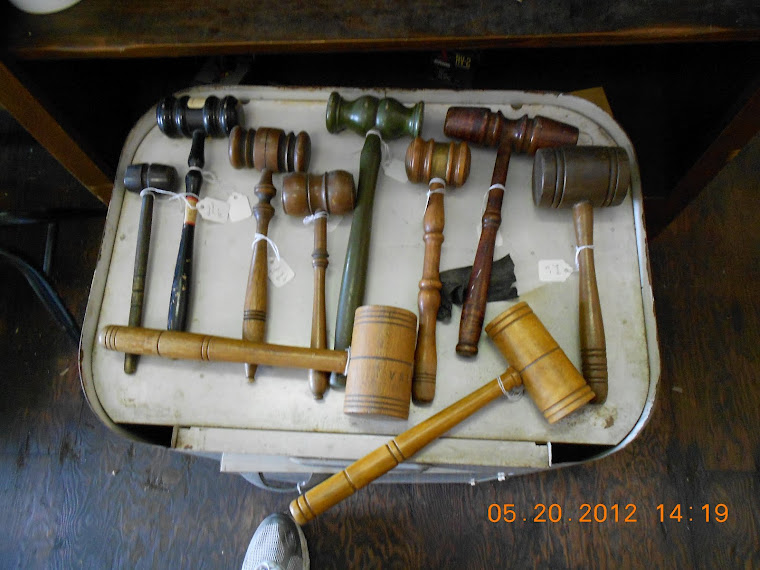 BLV clerk Honest Ethel has been acting mayor,so here's her choice of gavels,or take all of them.