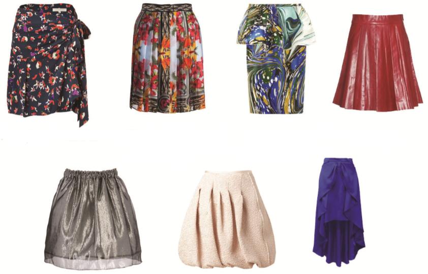 faldas para cuerpo rectángulo