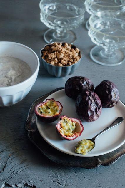 Passion Fruit Yogurt Parfait with Cassava Crumble (AIP, low FODMAP, Paleo, Vegan)
